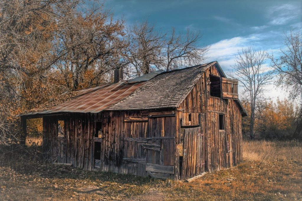It's a fixer-upper she shed.